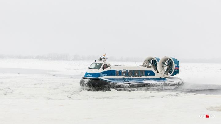 Из-за аномально теплой погоды на Волге приостановили движение судов на воздушных подушках