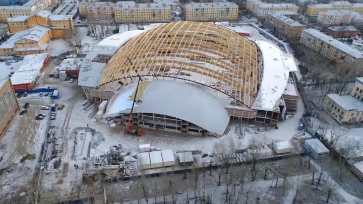 Сверху виднее: как строят стадион «Енисей»