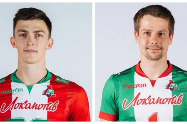 Ильяс Куркаев (слева) и Роман Мартынюк (справа) являются игроками волейбольного клуба«Локомотив»