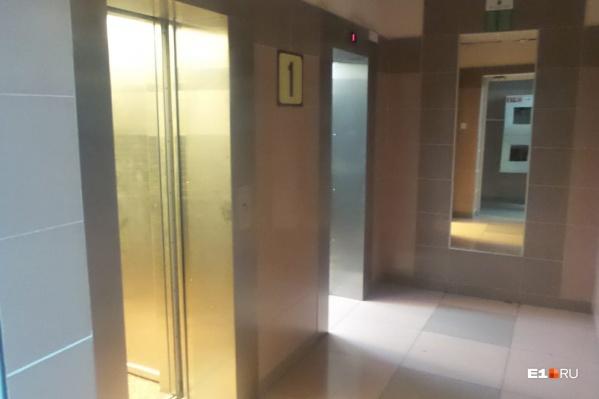Возгорание случилось в лифте