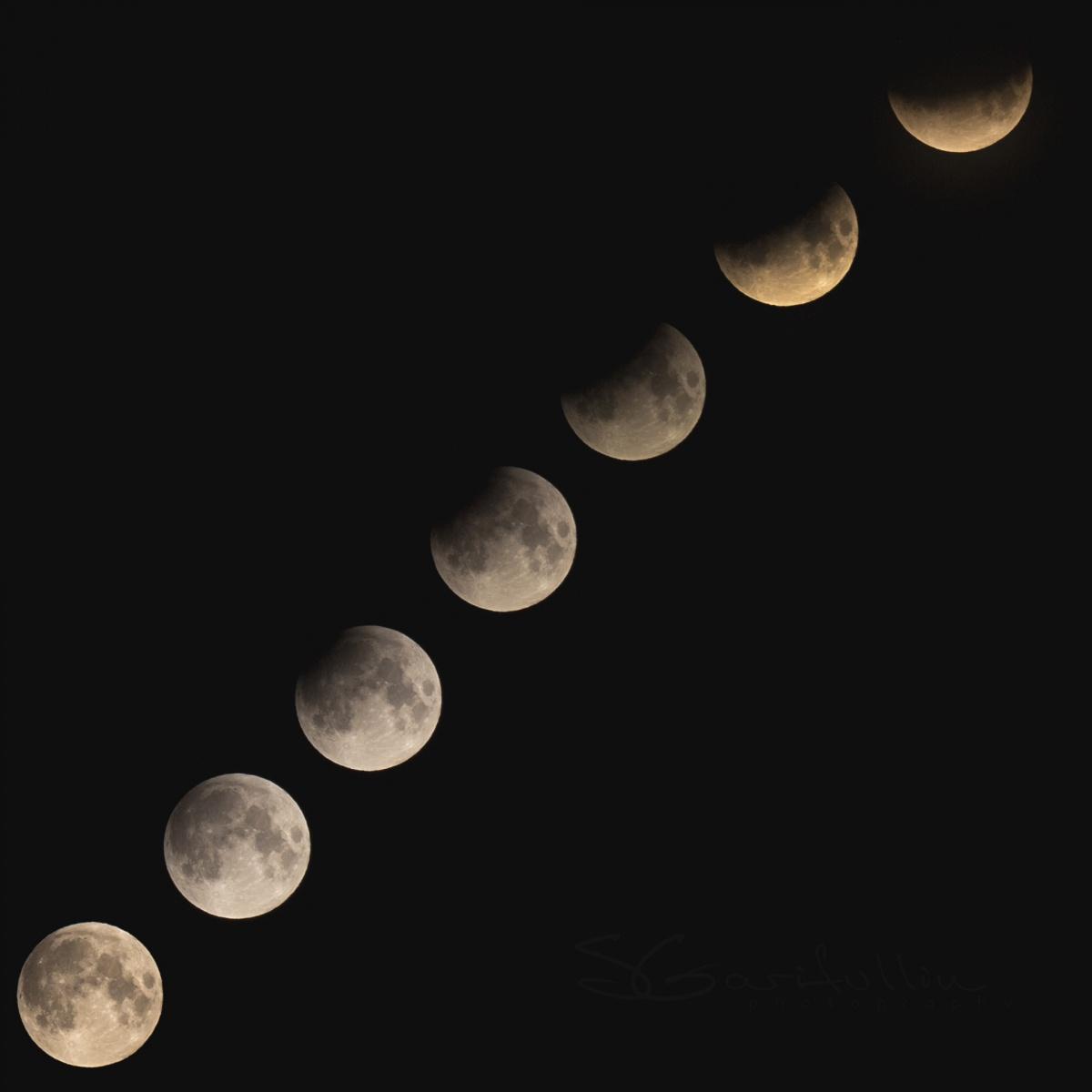 А на этом фото видно все фазы затмения