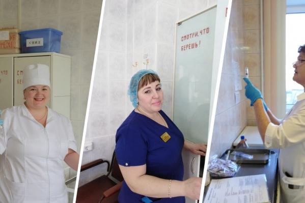 Ольга Бекшаева, Елена Масич и Нина Ковалева из 20-й больницы