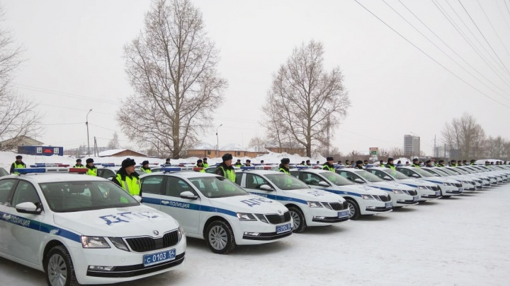 Парад на Бородина: автоинспекторы получили 73 новые «Шкоды Октавии»