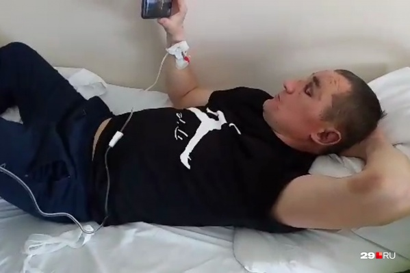 На скриншоте — Алексей Козлов в субботу, перед тем как сбежать из больницы