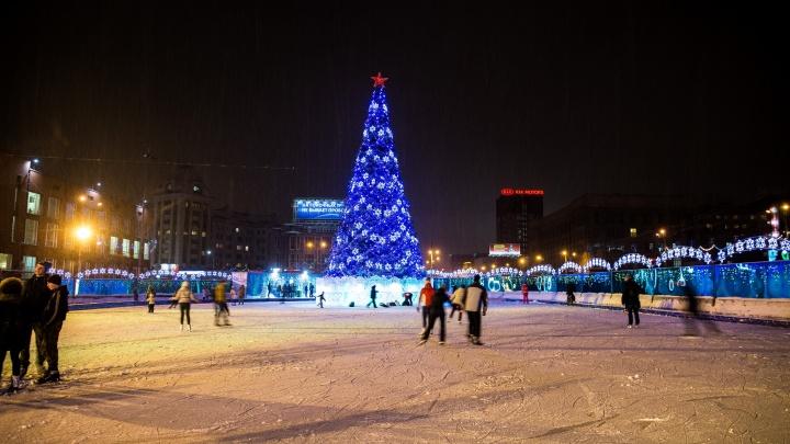 Власти Новосибирска уберут каток с площади Ленина