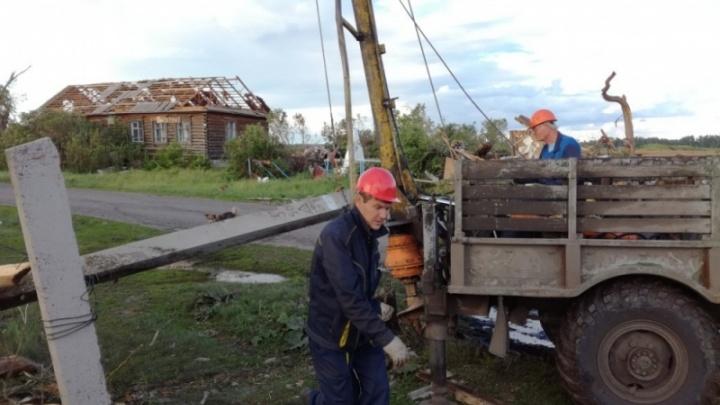 В двух районах Курганской области введен режим ЧС из-за ураганного ветра