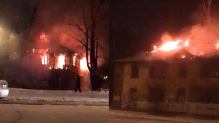 Дотла! Появилось видео крупного пожара на Металлурге