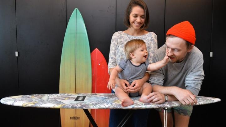 Бизнес в декрете: екатеринбурженка придумала делать гладильные доски в виде досок для сёрфинга