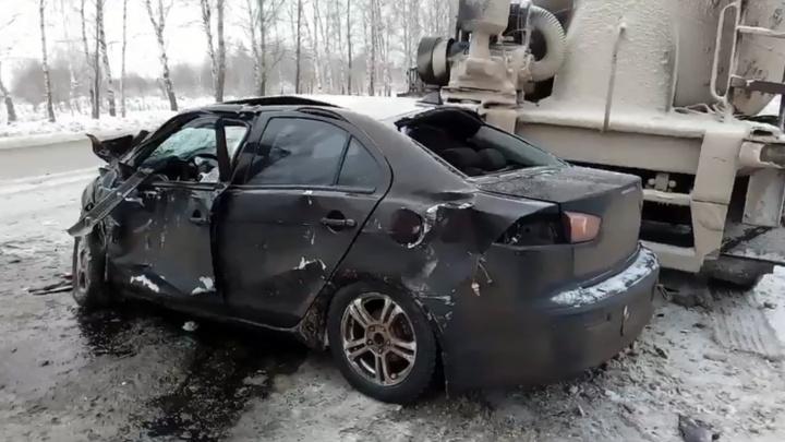 «Женщина в шоковом состоянии». Массовое ДТП в Брагино: двух человек увезли в больницу
