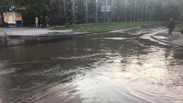 Вечером на Химмаше разлилась коммунальная река