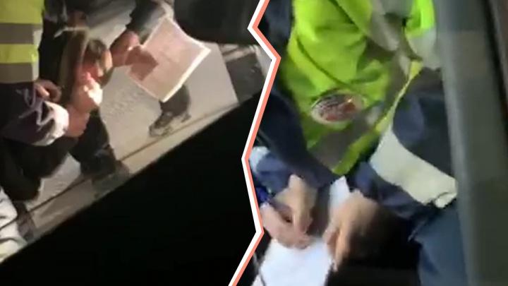 В ГИБДД объяснили, почему инспекторы жестко задерживали тюменца