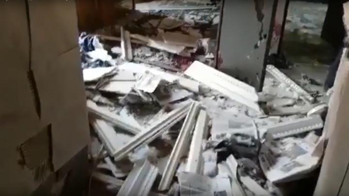 Появилось видео помещений ФСБ по Архангельской области после взрыва