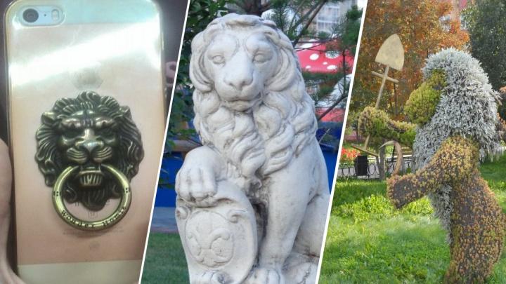 Экскурсовод из Красноярска собрала коллекцию изображений львов на улицах города