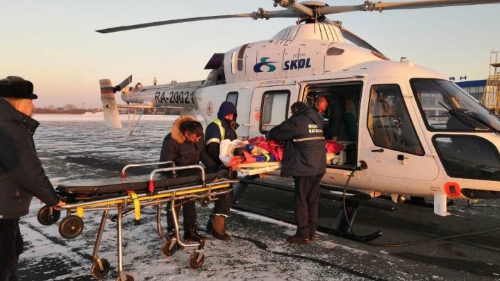 «На счету была каждая минута»: санавиация доставила в Курган мужчину с огнестрельным ранением головы