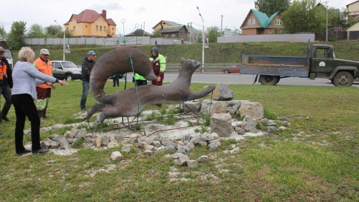 В Уфе проспект Салавата Юлаева украсила фигура куницы