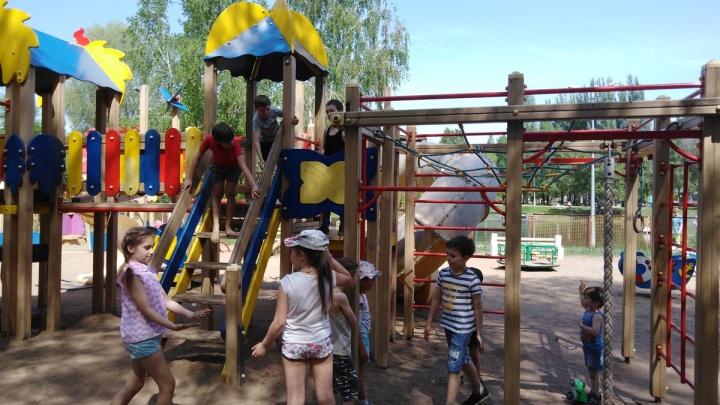 В Самаре детскую площадку на Воронежских озерах обещали восстановить к 10 июня