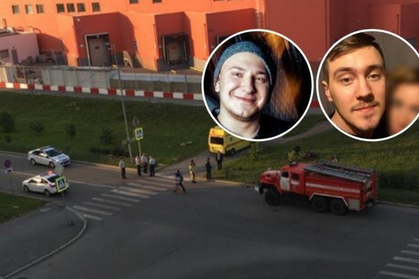 Слева — Семён, водитель мотоцикла. За его жизнь боролись врачи. Справа — Евгений, он погиб на месте