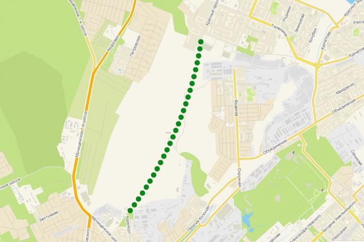 Дорога должна соединить улицу Аэропорт и улицу Краузе. В декабре 2018 года её официально решили назвать Красным проспектом