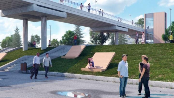 Реконструкция набережной началась со строительства лифта на Вантовом мосту