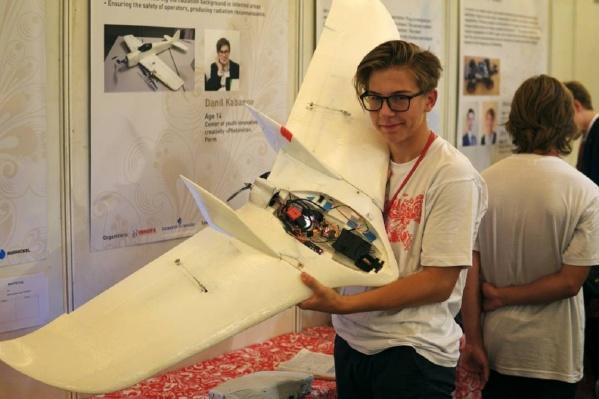Данил Кабанов создал беспилотник, который умеет измерять уровень радиации