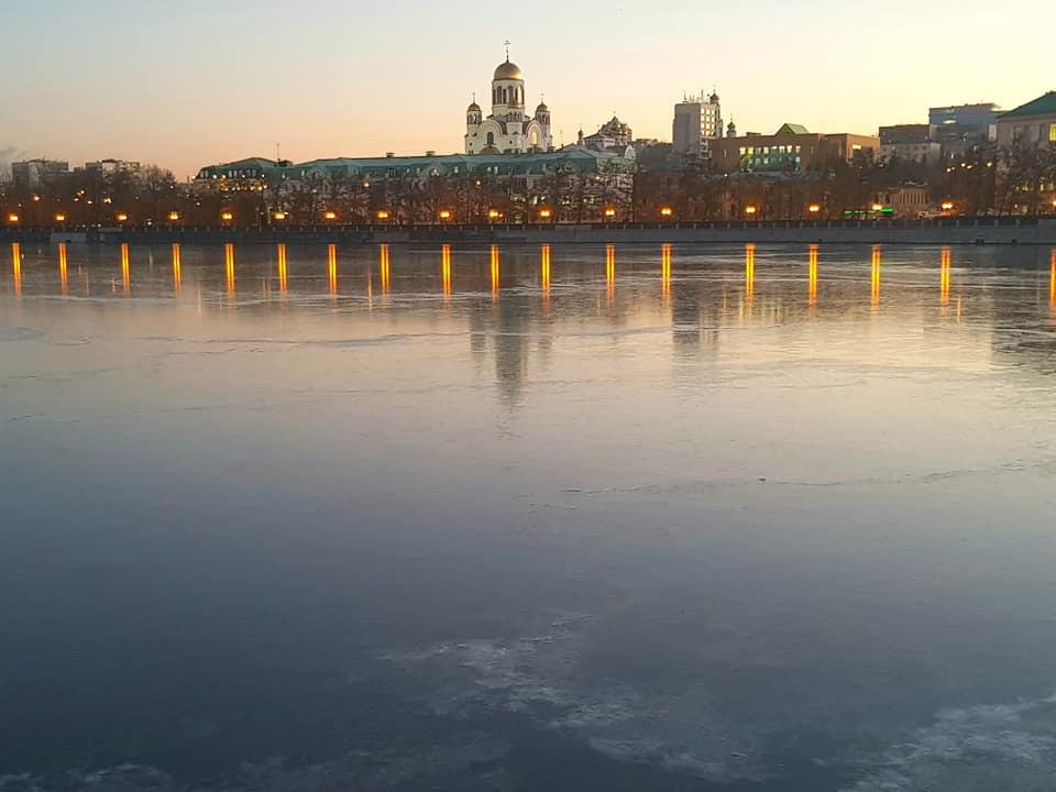 Так выглядел пруд утром 9 ноября