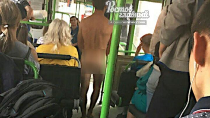 «Ни стыда, ни совести»: голый ростовчанин катался в городском автобусе