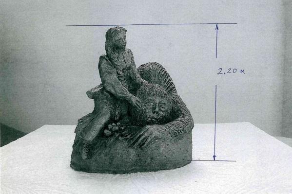 Так будет выглядеть скульптура в парке «Коммунальников»
