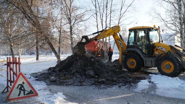 На эспланаде в Перми прорвало магистральный трубопровод