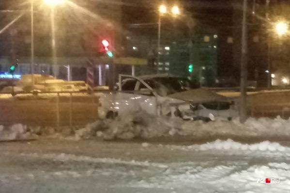 Водитель «Приоры» отделался несущественными повреждениями, автомобиль же ждёт основательный ремонт