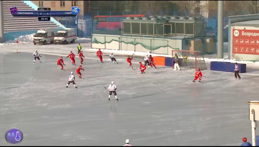«Сибсельмаш» победил «Старт» вдомашнем матче чемпионата Российской Федерации похоккею смячом