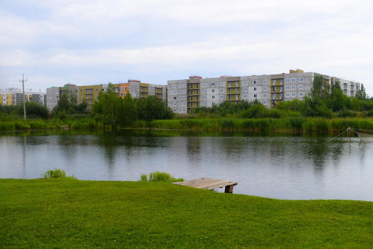 Сейчас в «Мичуринском» возводят четыре новых дома у озера