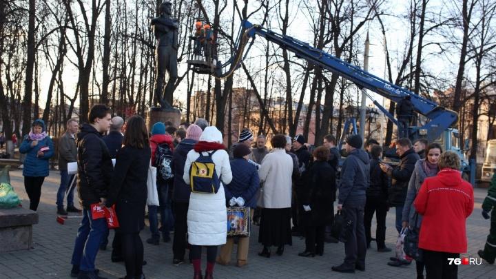 В Ярославле устроили субботник против объединения Волковского и Александринского театров