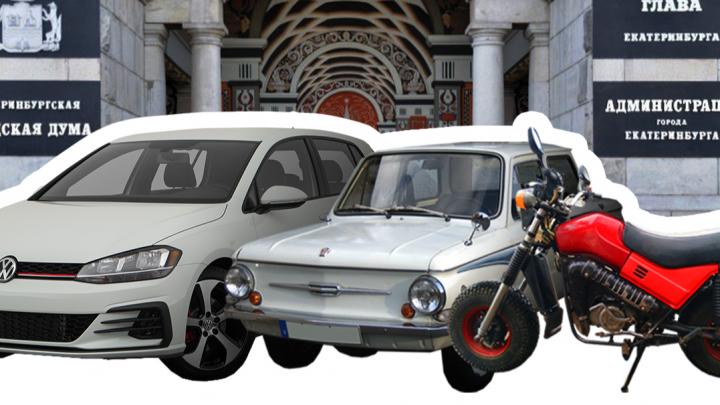 ВИП-гараж: изучаем редкий мотоцикл Высокинского, а также джипы и лодки его подчиненных из мэрии