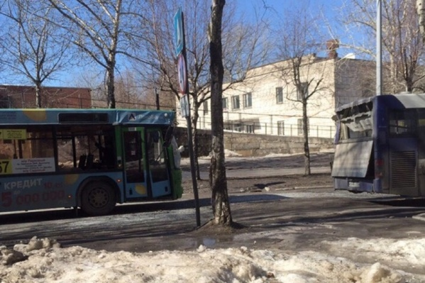 Столкновение произошло возле дома № 39 на улице Тургенева