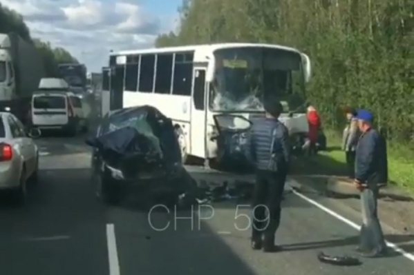 Автобус ехал из Перми в Кунгур