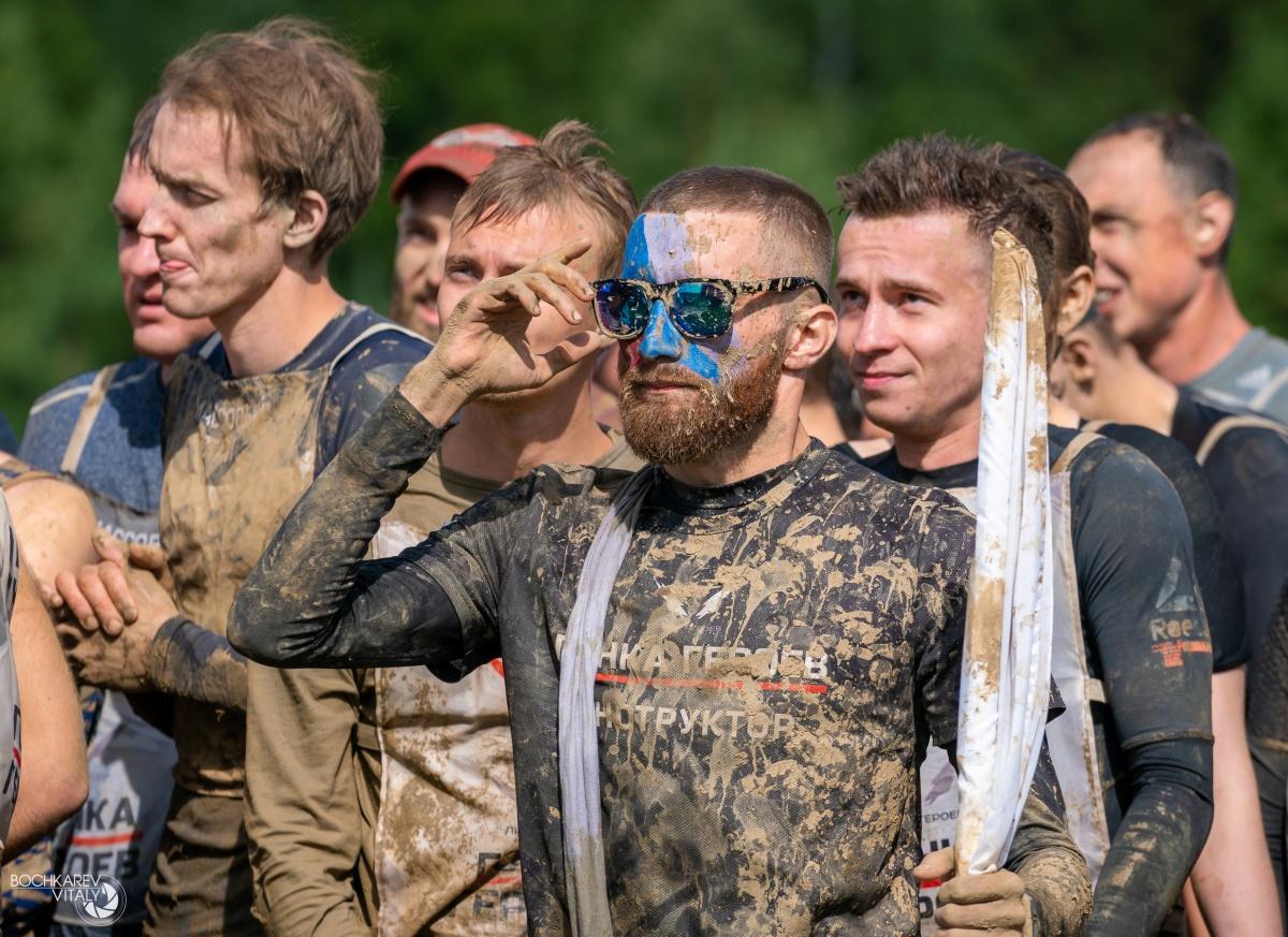 Примерно так участники выглядели на финише, перед душем