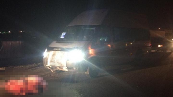В Уфе маршрутка сбила пешехода: мужчина погиб