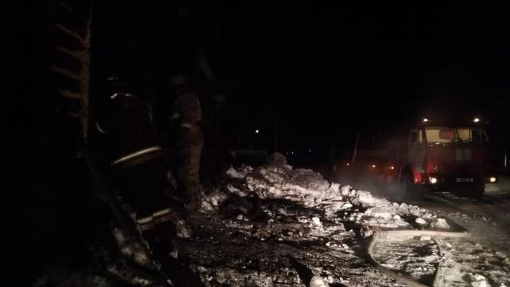 Снова пожар в Юргамышском районе: сгорел частный дом — трое детей и женщина погибли