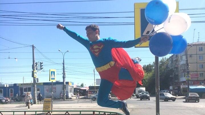 В Самаре на сотрудников ГИБДД работал супермен