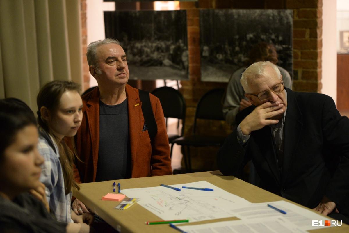 Шахрин на обсуждениях проспекта Ленина