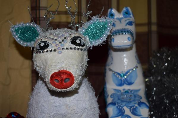 Свинья, символ грядущего года, стала одной из самых популярных композиций в работах участников