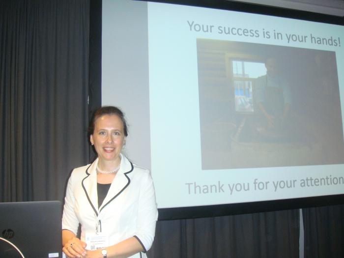Елена Разумовна Лебедева, невролог центра лечения головных болей «Европа — Азия», после лекции на конгрессе в Копенгагене