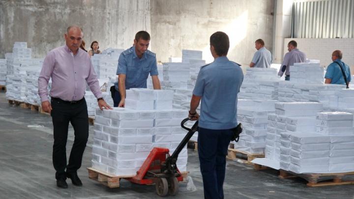 Облизбиркому передали 6,5 млн бюллетеней для голосования