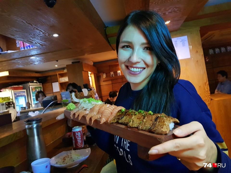 Девушка призналась, что только в Сеуле попробовала по-настоящему вкусную рыбу