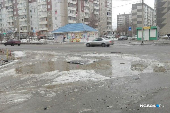 Первый дождь прошёл в Красноярске 20 марта