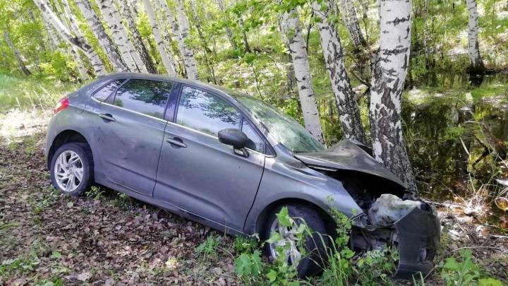 Водитель не справился с управлением и врезался в дерево: в Шадринском районе в ДТП пострадал ребенок