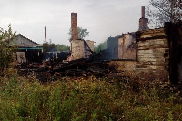 Пожар произошел в селе Надеждинка