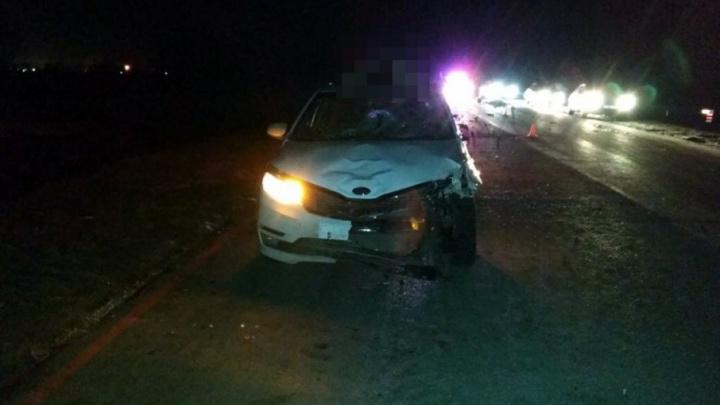 На трассе в Башкирии иномарка насмерть сбила двух пешеходов
