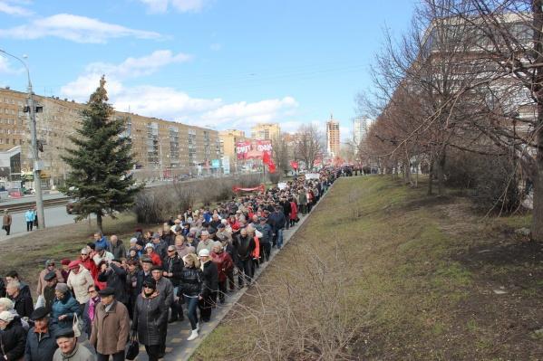 В акции приняли участие сотни пенсионеров