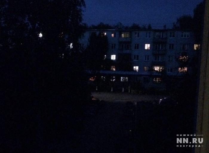 Освещение улиц Нижнего Новгорода восстановят напротяжении недели